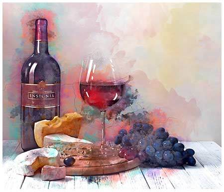 Wine Painting watercolor