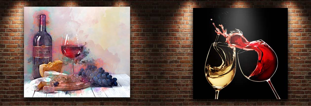 Painting of Wine on wall